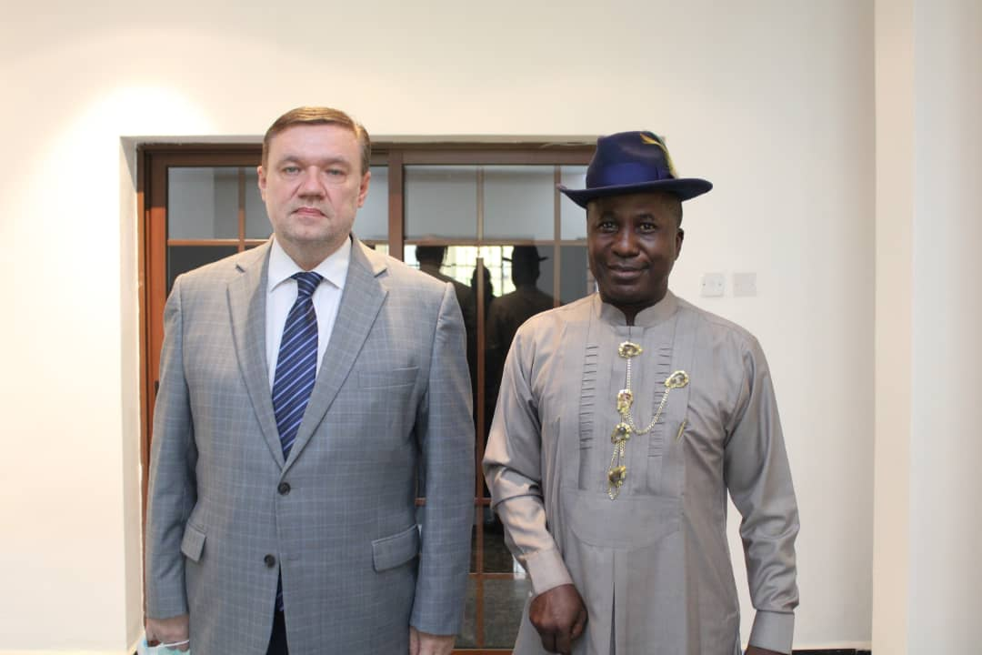 BAYELSA FEDERAL LAWMAKER VISITS BELARUSIAN AMBASSADOR, INVITES HIM TO THE COMMISSIONING OF NEWLY BUILT SKILLS ACQUISITION CENTRE IN POLAKU, YENAGOA